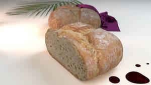 blender rendered bread