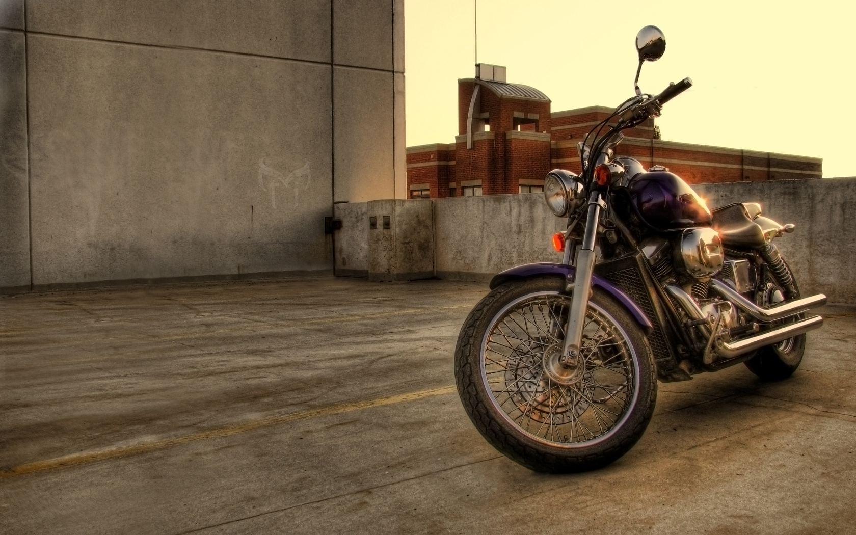 motorcycle on rooftop by unorthodox6