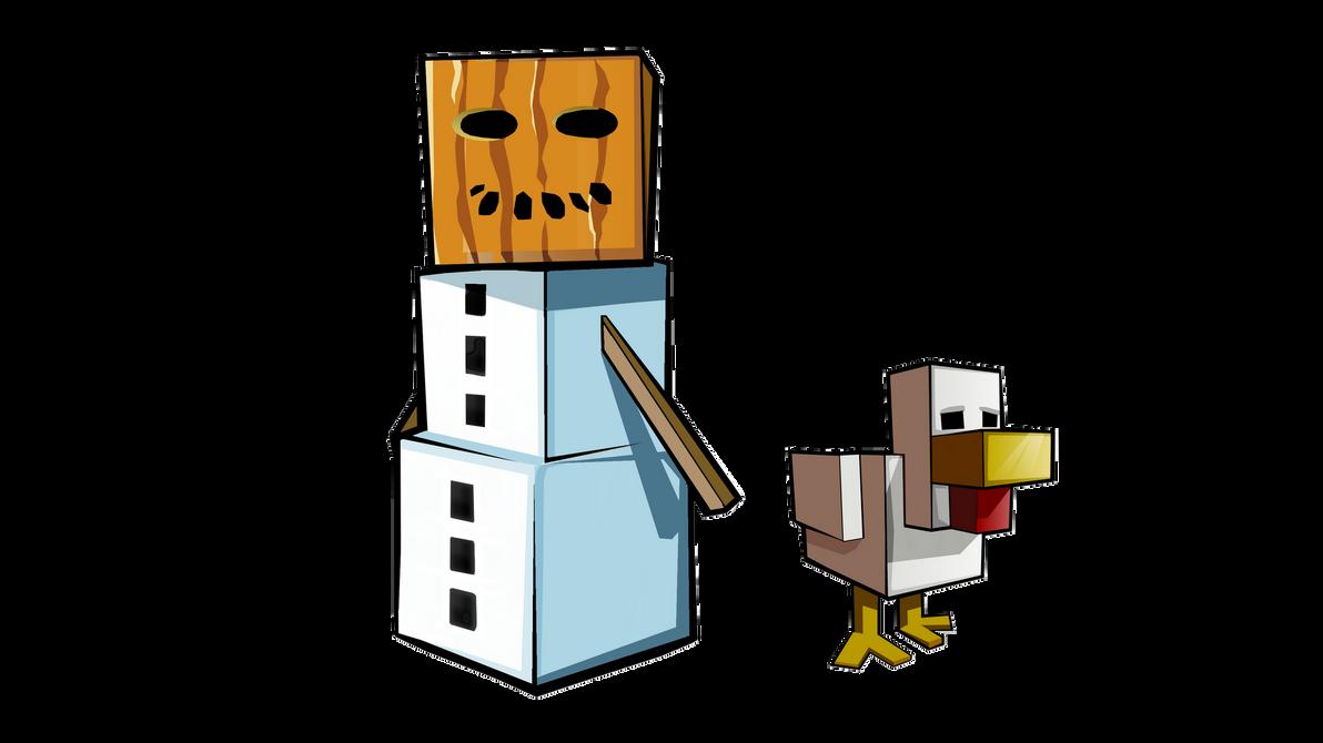 Minecraft Snow Golem By Enr1 On Deviantart
