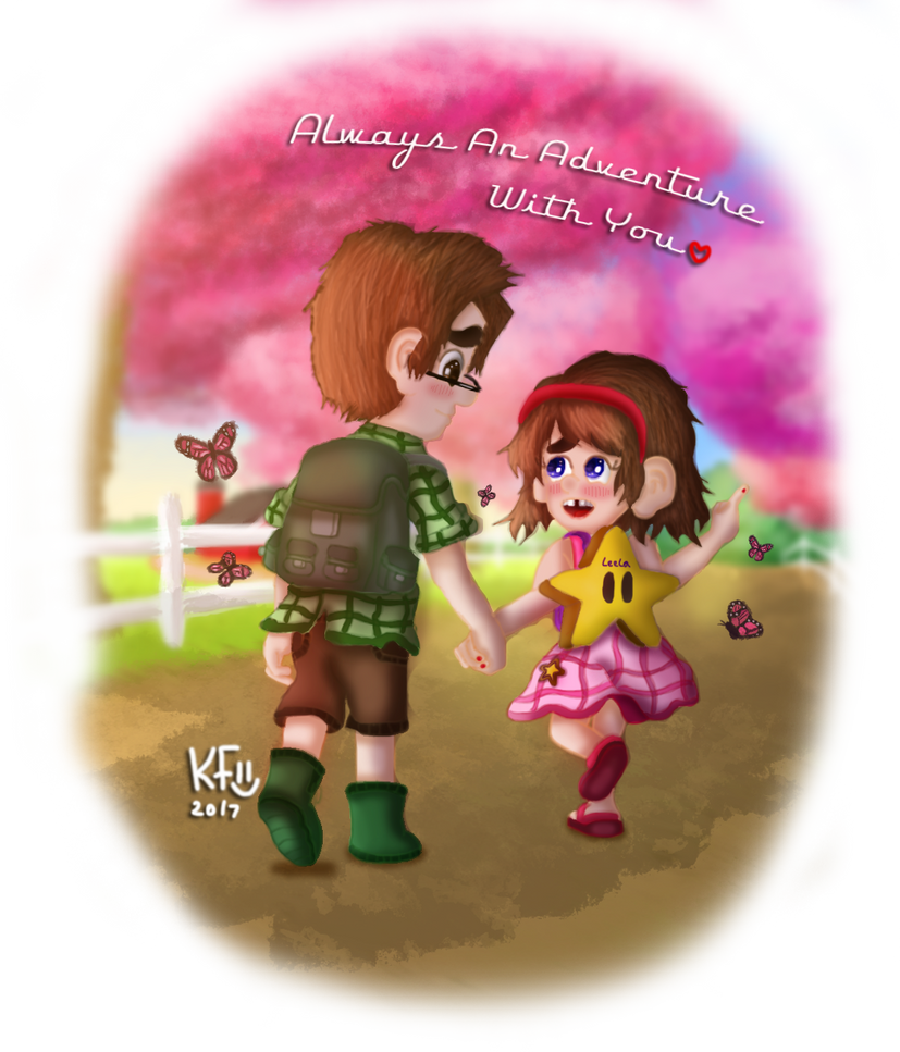A Beautiful Spring Day Mason and Leela 2 by Doodle-For-Adventure
