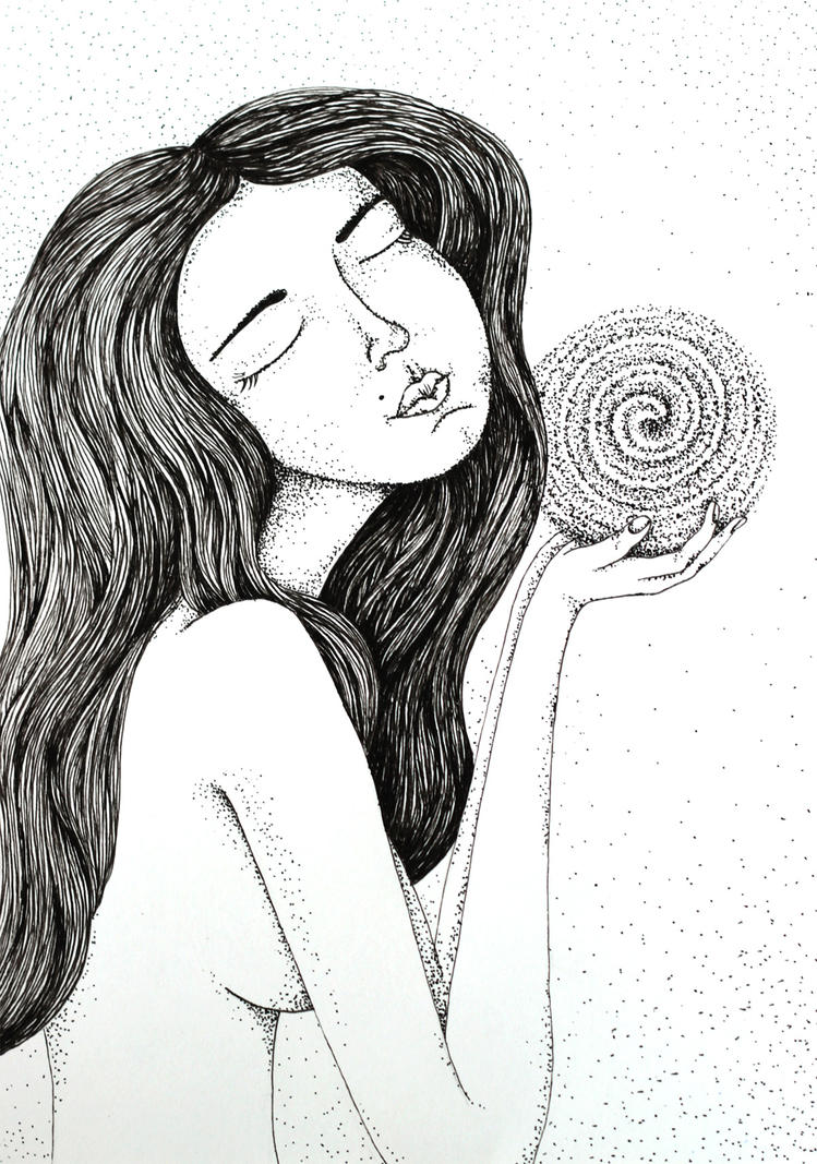 Ink Illustration, Girl By Oxanaart On DeviantArt