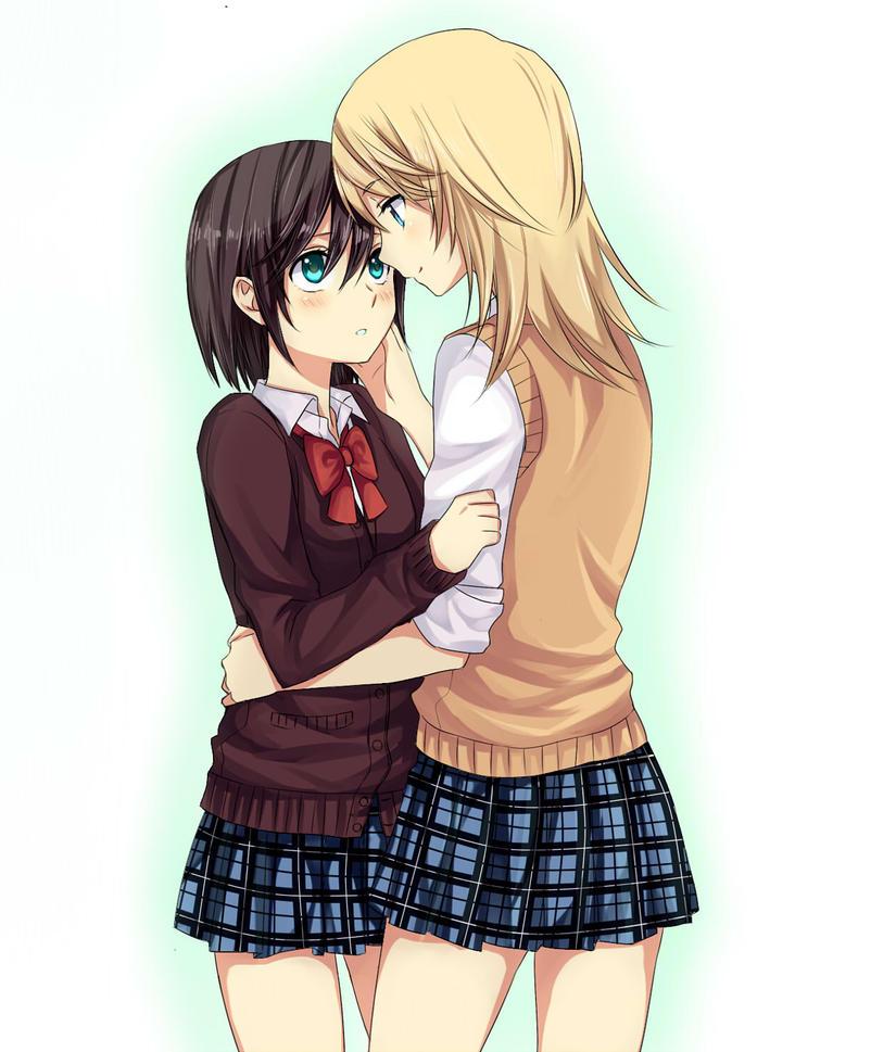 Girls by mylovelydevil on deviantart - Anime hug pics ...