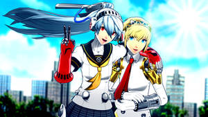 Labrys and Aigis [Persona 4 Arena]
