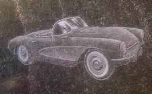 57 Corvette Convertible Etch