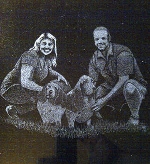 Commission Couple Bassett Hounds