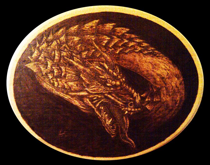 Pyrography Dragon by ckatt01