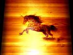 Unicorn Pyrography