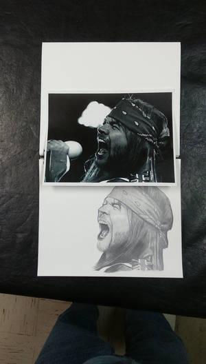 Axle Rose (November Rain) - WIP graphite portrait