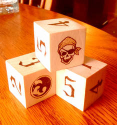 Designer Wood Burned Dice - 1.25 inch