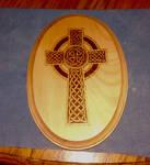 Celtic Cross 1 - pyrography