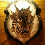 The Dragon Smaug - wood burning