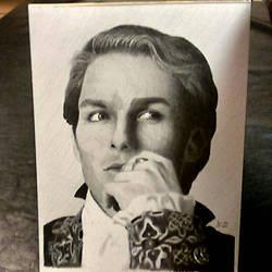 The Vampire Lestat - graphite portrait by ckatt01