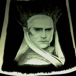 Thranduil, The Hobbit - graphite portrait
