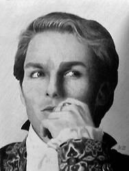 The Vampire Lestat - graphite portrait bw by ckatt01