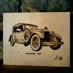 Deusenberg 1923 - pyrography