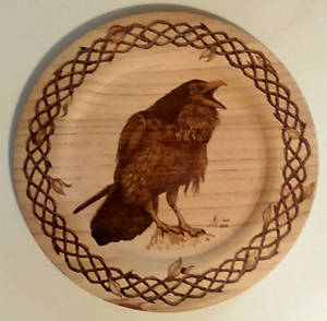 Never More - pyrography