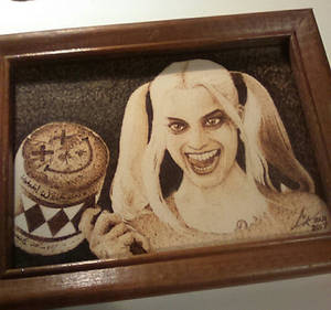 Harley, Suicide Squad - paper pyrography
