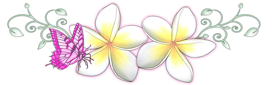 Frangipani Butterfly Tattoo by ~13star on deviantART