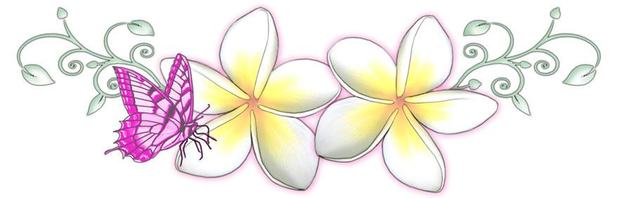 Frangipani Butterfly Tattoo by ~13star on deviantART
