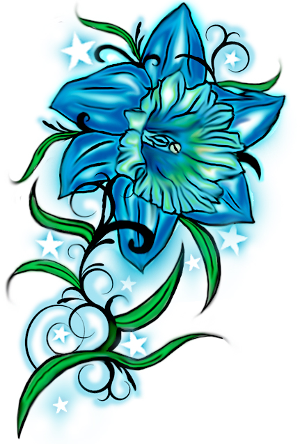 Daffodil Tattoo Design - flower tattoo