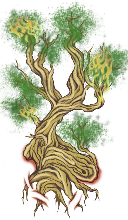 burning bonsai tree tattoo by 13star on deviantart. Black Bedroom Furniture Sets. Home Design Ideas