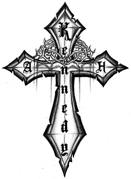 Cool Cross Tattoo Designs