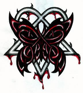 Celtic Butterfly Heartagram by 13star