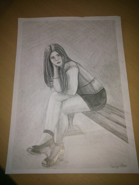My best friend pencil drawing by l0lyk