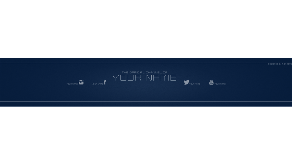 6 Youtube Banner Size Template Psd Youtube Psd Size Template Banner