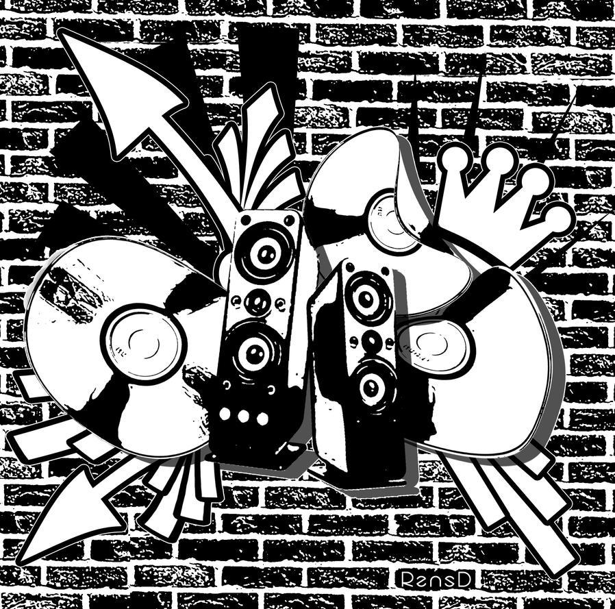 Housemusic graffiti by rensd on deviantart for House music art