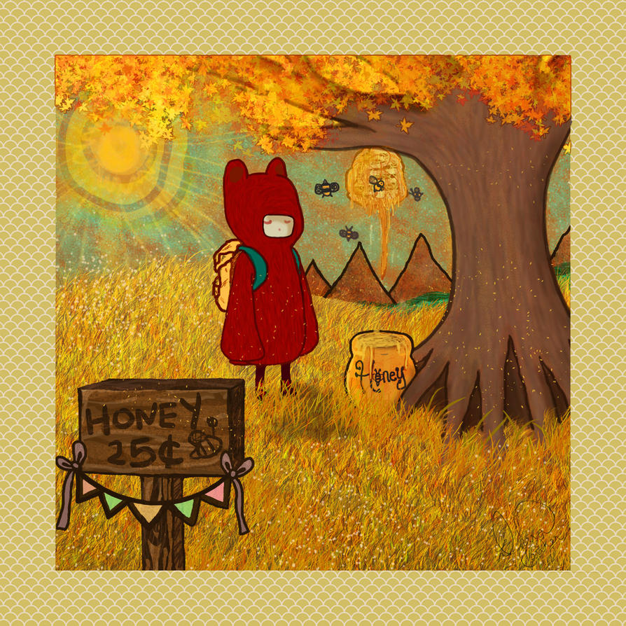 Summer Turns to Fall on Honey Bear Hill(2nd Print) by darrakitty