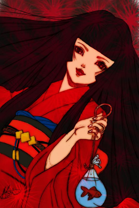 Kimono Girl colored by Kill-chan