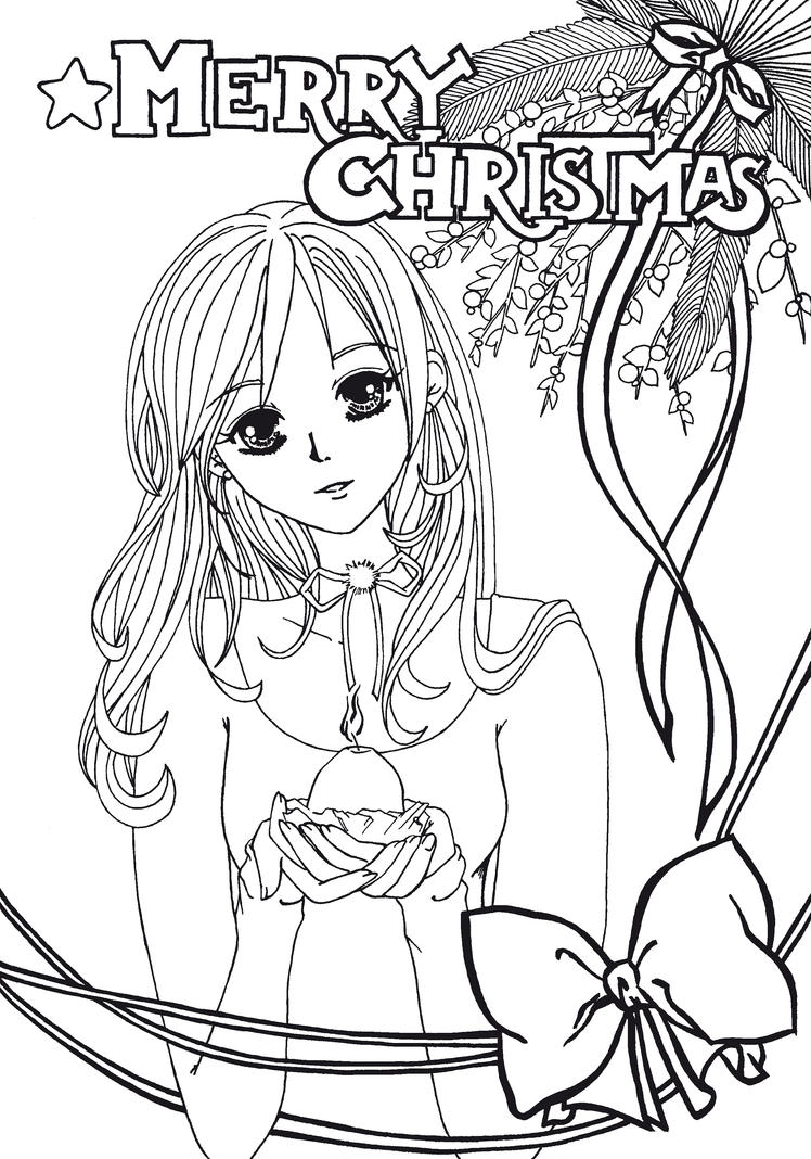 christmas manga drawings