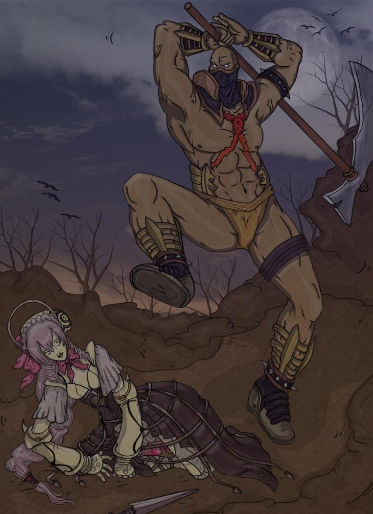 Astaroth Versus Ashlotte by renezinha
