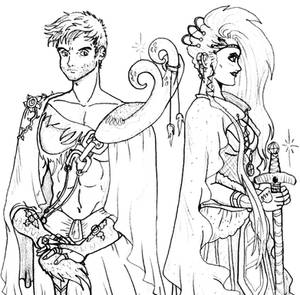 Castiel and Hellia.