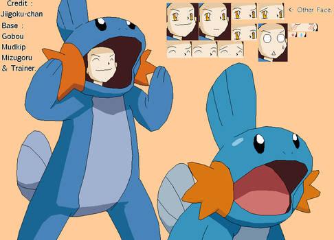 Base Mudkip and Trainers. by Jiigoku-chan
