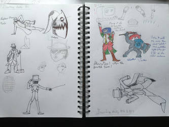 Daily drawings, days 1-3