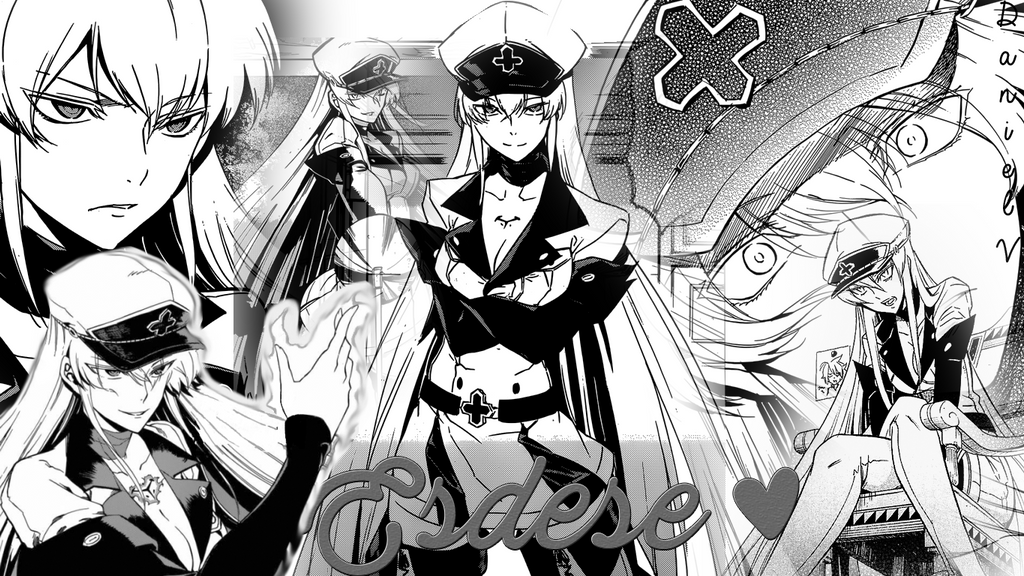 esdese esdeath manga collage wallpaper by