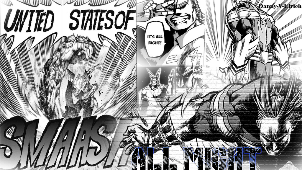 all might collage wallpaper by