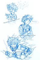 MHA sketch - Izuku Midoriya (aka Deku) by k-tiraam