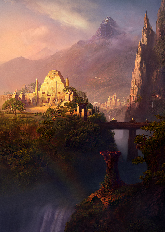 Post-Atlantis. Sacred Lands by EyeSeeBlack