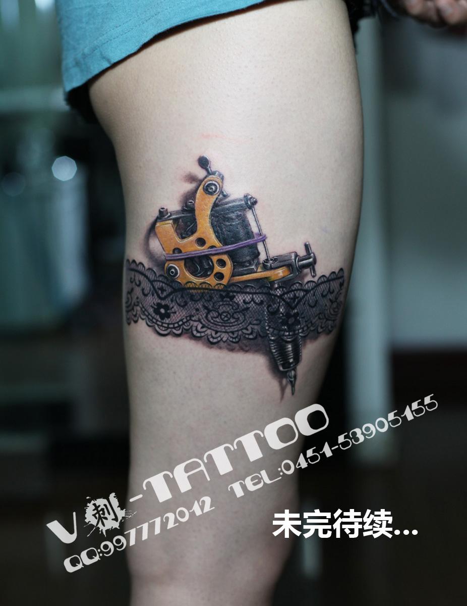 Realistic Tattoo Machine By Tattvv