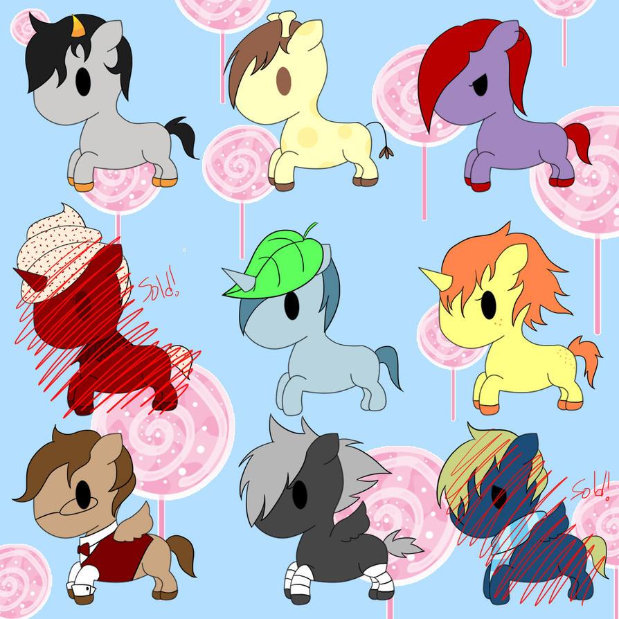 tokidoki pony point adoptables by choconom on deviantart