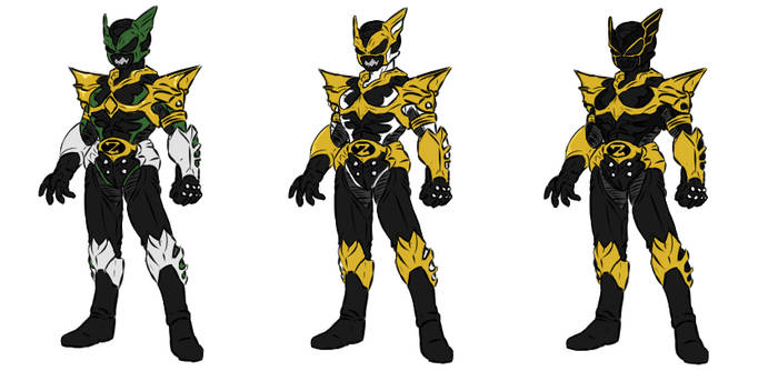 psycho rangers Green,White,and Gold