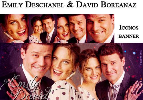 Emily Deschanel and David Boreanaz