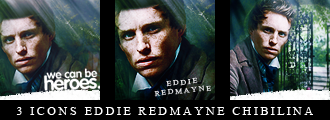 Eddie Redmayne Icons by Chibilina