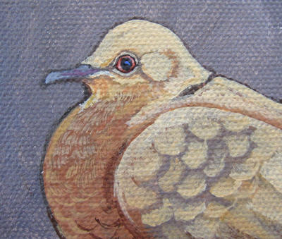 Mini Dove acrylic painting by Blue-MonsterOwO