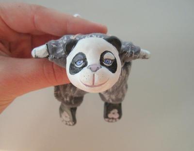 Panda OOAK Art Doll by Blue-MonsterOwO