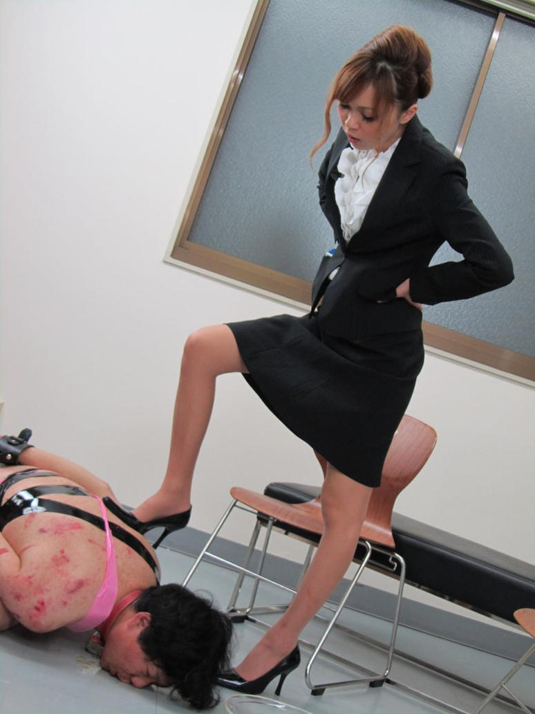 image Tall japanese office lady in control