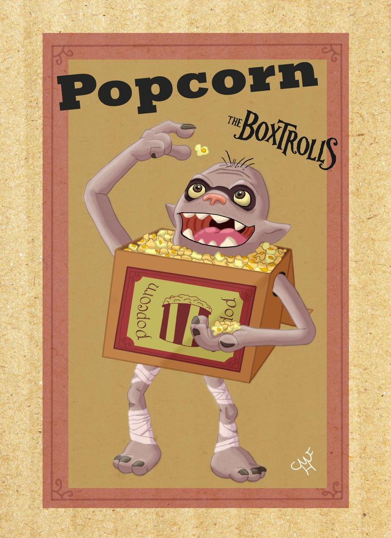 Popcorn the Boxtroll by Mohegan567